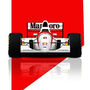 Formula 1 - Ayrton Senna - McLaren MP4/8 - Front view 2 by JageOwen