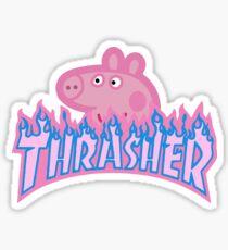 Peppa Pig Skate Funny Sticker