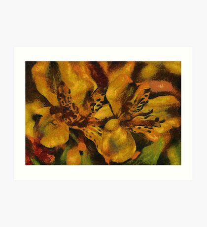Leopard Lillies Art Print