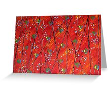 All-over Composition in Red Greeting Card