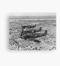 Spitfire Fighters Over Africa, 1943. Vintage Photo Metal Print