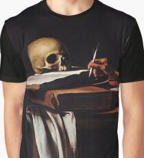 Saint Jerome Writing - Michelangelo Merisi da Caravaggio Graphic T-Shirt