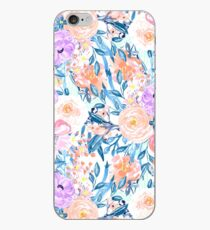 Modern watercolor garden floral paint iPhone Case