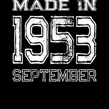 Birthday Celebration Made In September 1953 Birth Year by FairOaksDesigns