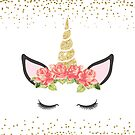 Floral Rose Unicorn by graphicloveshop