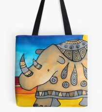 Ever elegant Ethel, the most flamboyant rhino Tote Bag