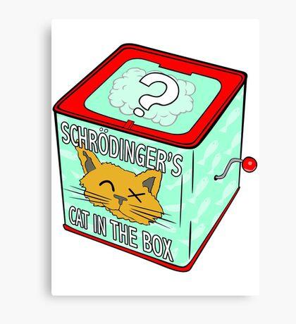 Schrödinger's Cat in the Box Canvas Print