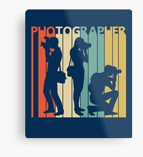 Vintage Retro Photographer Metal Print
