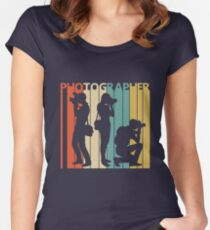 Vintage Retro Photographer Women's Fitted Scoop T-Shirt