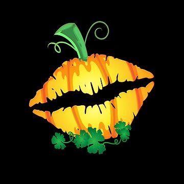 Halloween Sexy Kiss Lips Shirt Pumpkin Gift by MrTStyle