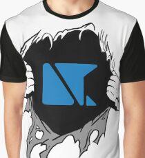 DTC DESIGNS logo rip underneath  Graphic T-Shirt