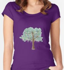 Mardi Gras Tree - watercolor Women's Fitted Scoop T-Shirt