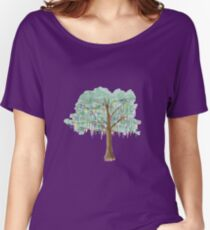 Mardi Gras Tree - watercolor Women's Relaxed Fit T-Shirt