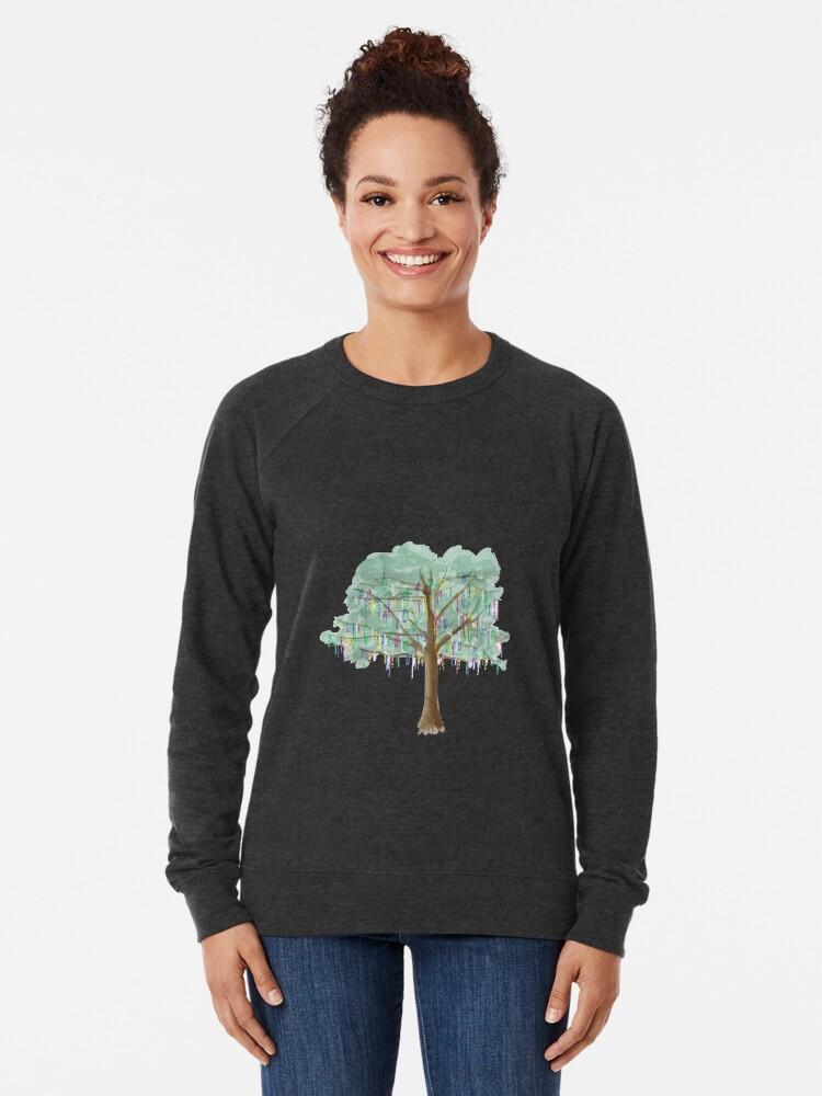 Alternative Ansicht von Mardi Gras Tree - Aquarell Leichter Pullover