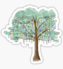 Mardi Gras Tree - watercolor Sticker