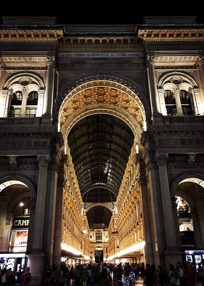 Galleria Vittorio Emanuele II at Night, Milano, Italia by Douglas E.  Welch
