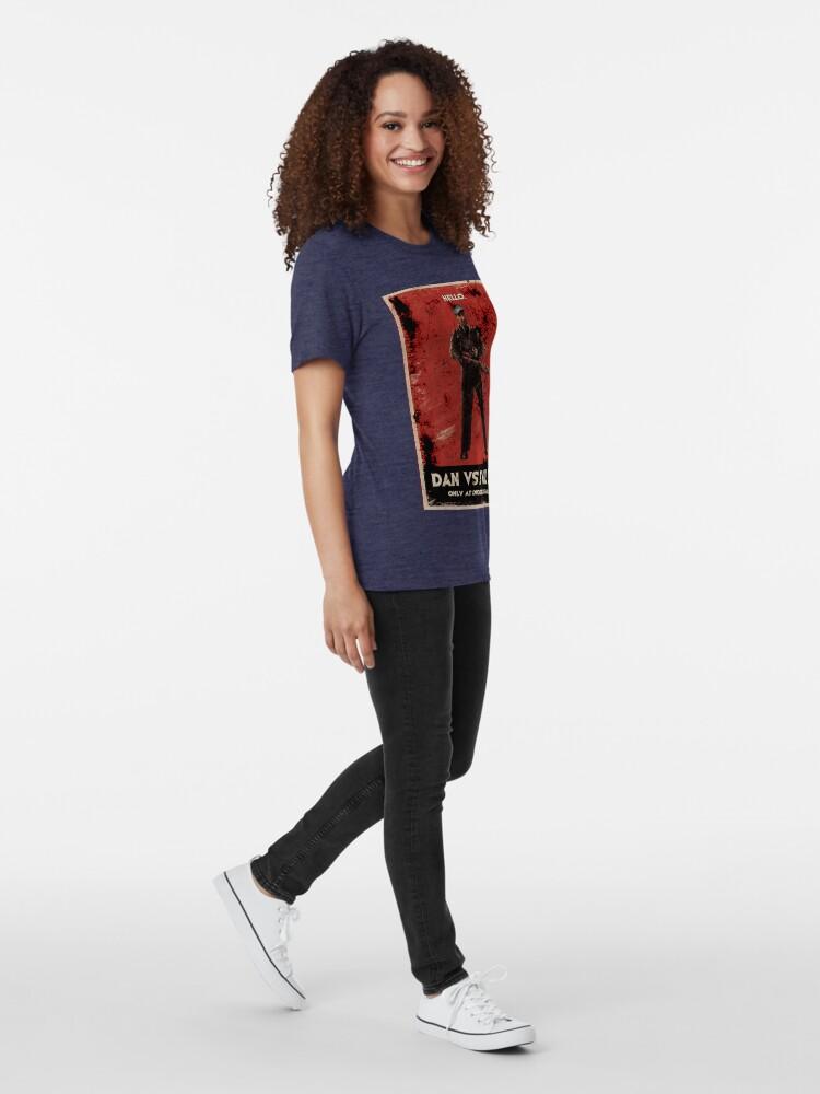 Alternate view of Dan Vs Evil Dead Poster shirt Tri-blend T-Shirt