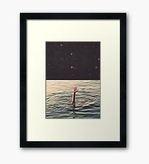 Drowned in space Framed Print