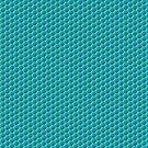 Blue Honeycomb Bubblewrap Pattern by sciencenotes
