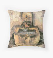 Provence Fountain Village... Throw Pillow