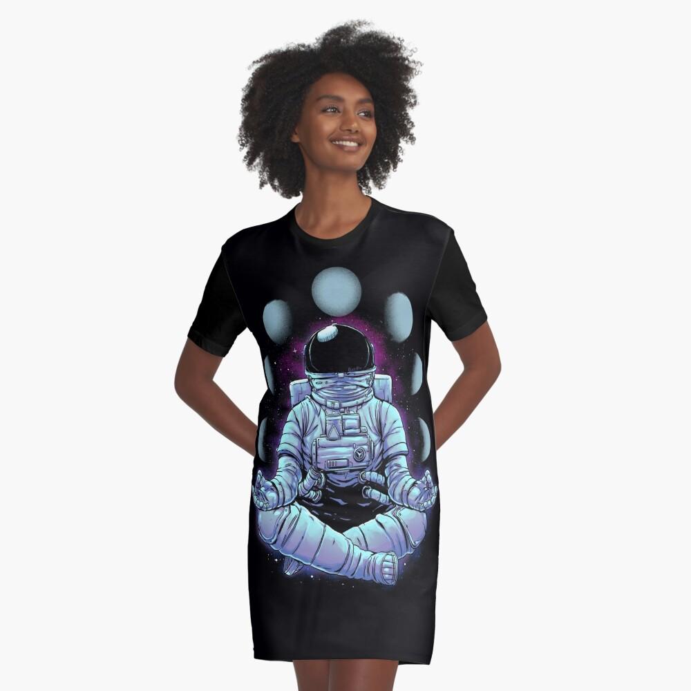 Meditation Graphic T-Shirt Dress