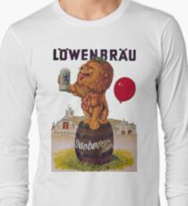 German Oktoberfest party with Lowenbrau Lion Long Sleeve T-Shirt
