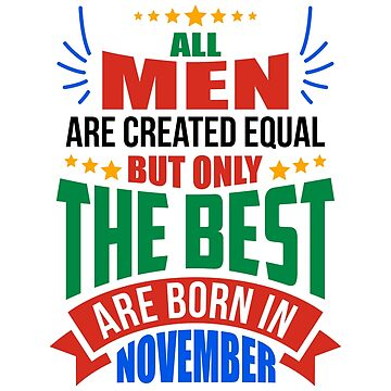 NOVEMBER Birthday Special - MEN by TheArtism