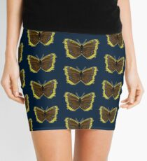 Girl Power Inspirational Butterfly - Mourning Cloak Mini Skirt