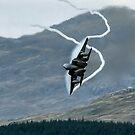 USAF  F15C Eagle pulling G in the Mach Loop Wales by PhilEAF92