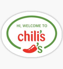 Hi Welcome to Chili's Vine Sticker