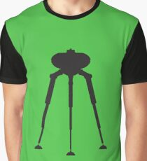 Three-Legged Alien Transport Machine Graphic T-Shirt