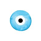 Blaues Aquarell Nazar Boncugu Evil Eye von maggiecuda