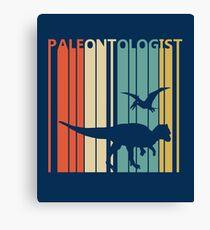Vintage Retro Paleontologist Canvas Print