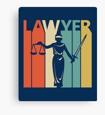 Vintage Retro Lawyer Canvas Print