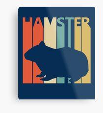 Vintage Retro Hamster Metal Print