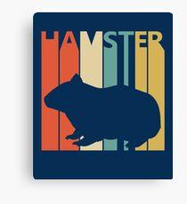 Vintage Retro Hamster Canvas Print