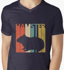 Vintage Retro Hamster Men's V-Neck T-Shirt
