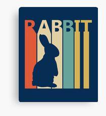 Vintage Retro Rabbit Canvas Print