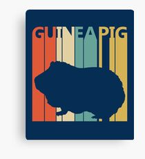 Vintage Retro Guinea Pig Canvas Print