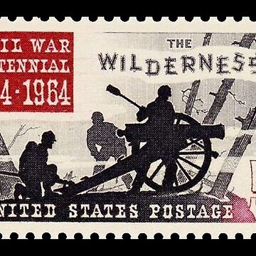 POSTAGE STAMP, CENTENNIAL, 1864 - 1964, Grand Army of the Republic, Union, United Confederate Veterans by TOMSREDBUBBLE