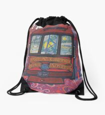 San Francisco California Retro Vintage Travel Poster Drawstring Bag