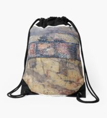 Gondwana encaustic stitched Drawstring Bag
