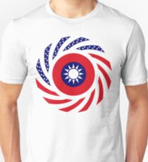 Taiwanese American Multinational Patriot Flag Series Slim Fit T-Shirt