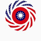 Taiwanese American Multinational Patriot Flag Series by Carbon-Fibre Media