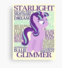 The Many Words of Starlight Glimmer Canvas Print