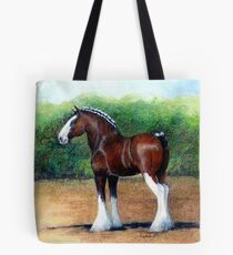 Clydesdale Horse Portrait Tote Bag