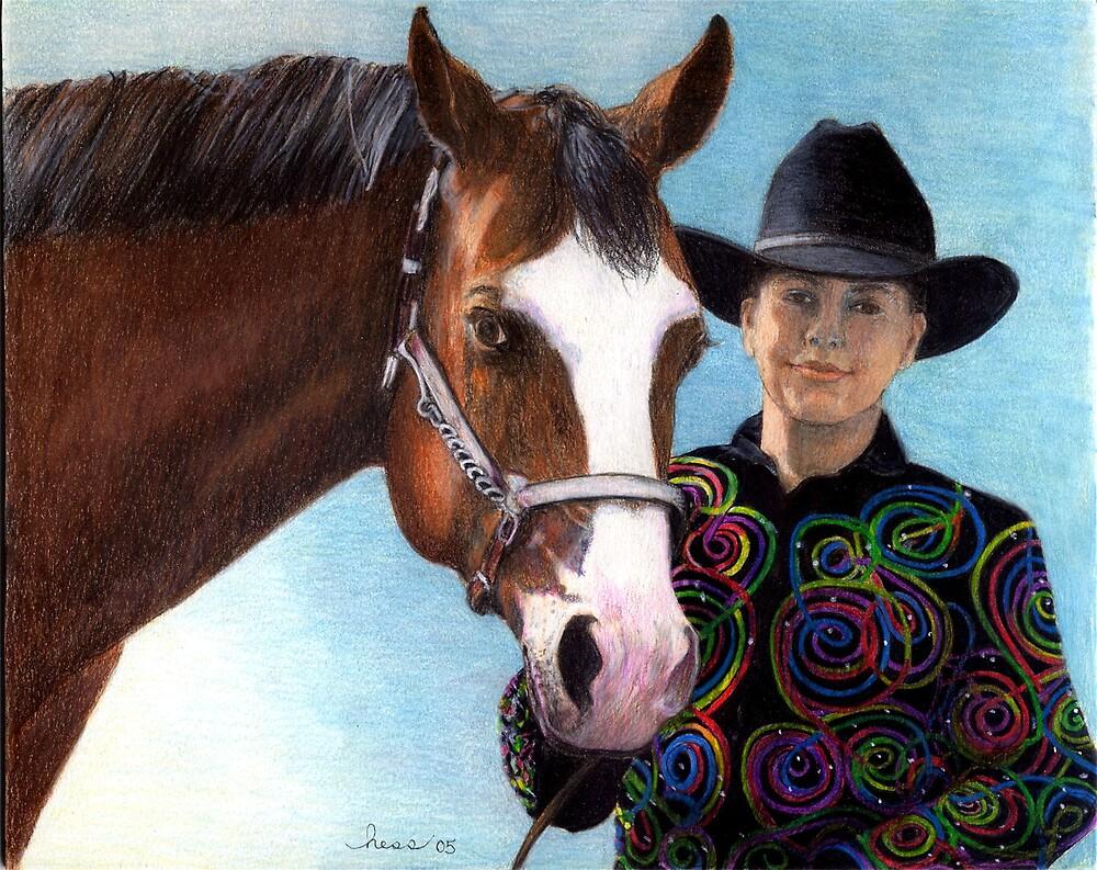 Quarter Horse Youth Halter Class Winner Portrait by Oldetimemercan