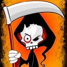 Grim Reaper Creepy Cartoon Character by BluedarkArt