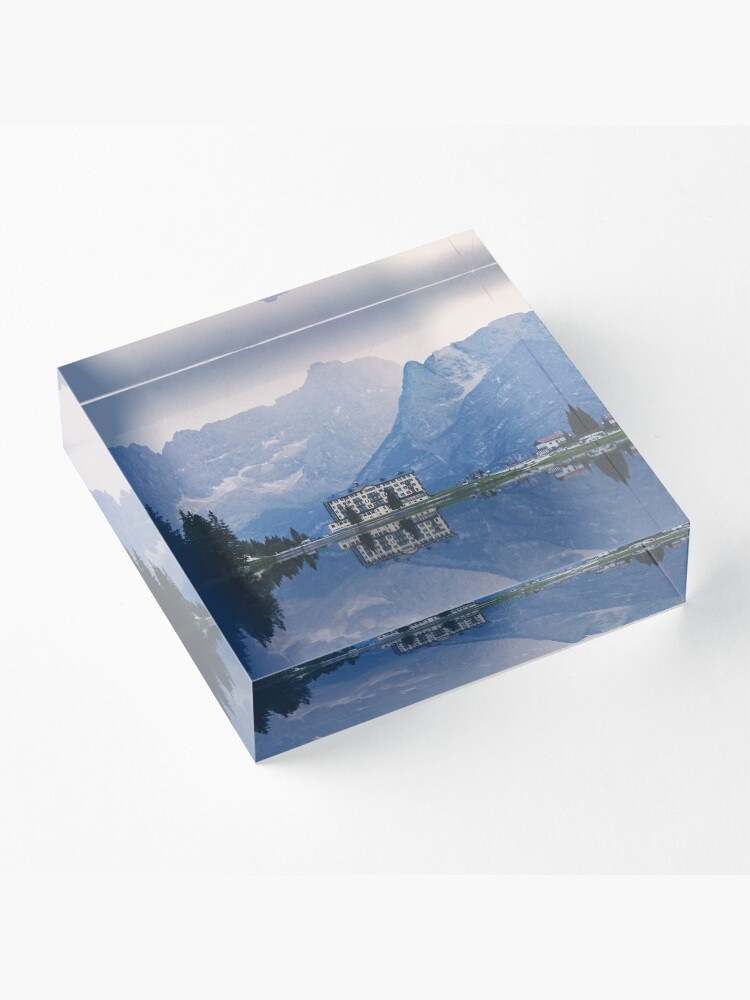 Alternate view of Grand Mountain Hotel - Dolomites Collection Acrylic Block
