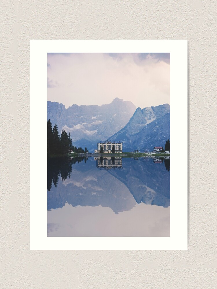 Alternate view of Grand Mountain Hotel - Dolomites Collection Art Print